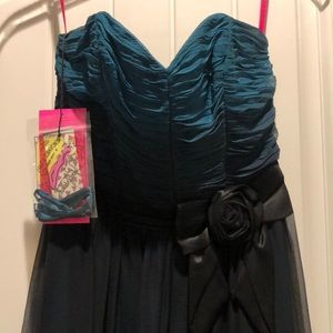 Blue-black ombré Formal dress